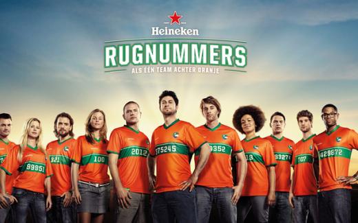 Heineken Squad Numbers